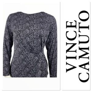 🆕 Vince Camuto top with gathering on the side